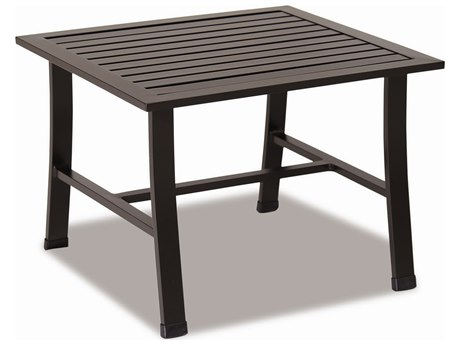 Sunset West Quick Ship La Jolla Aluminum 22 Square End Table