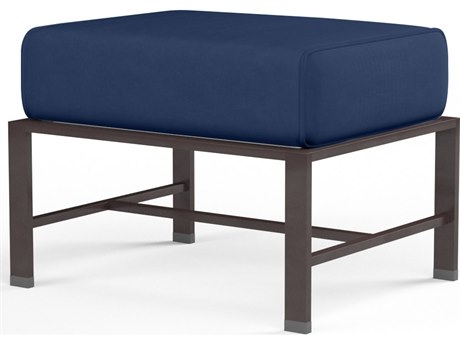Sunset West La Jolla Aluminum Rectangular Ottoman