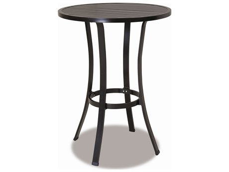Sunset West Quick Ship La Jolla Aluminum 32 Round Pub Table