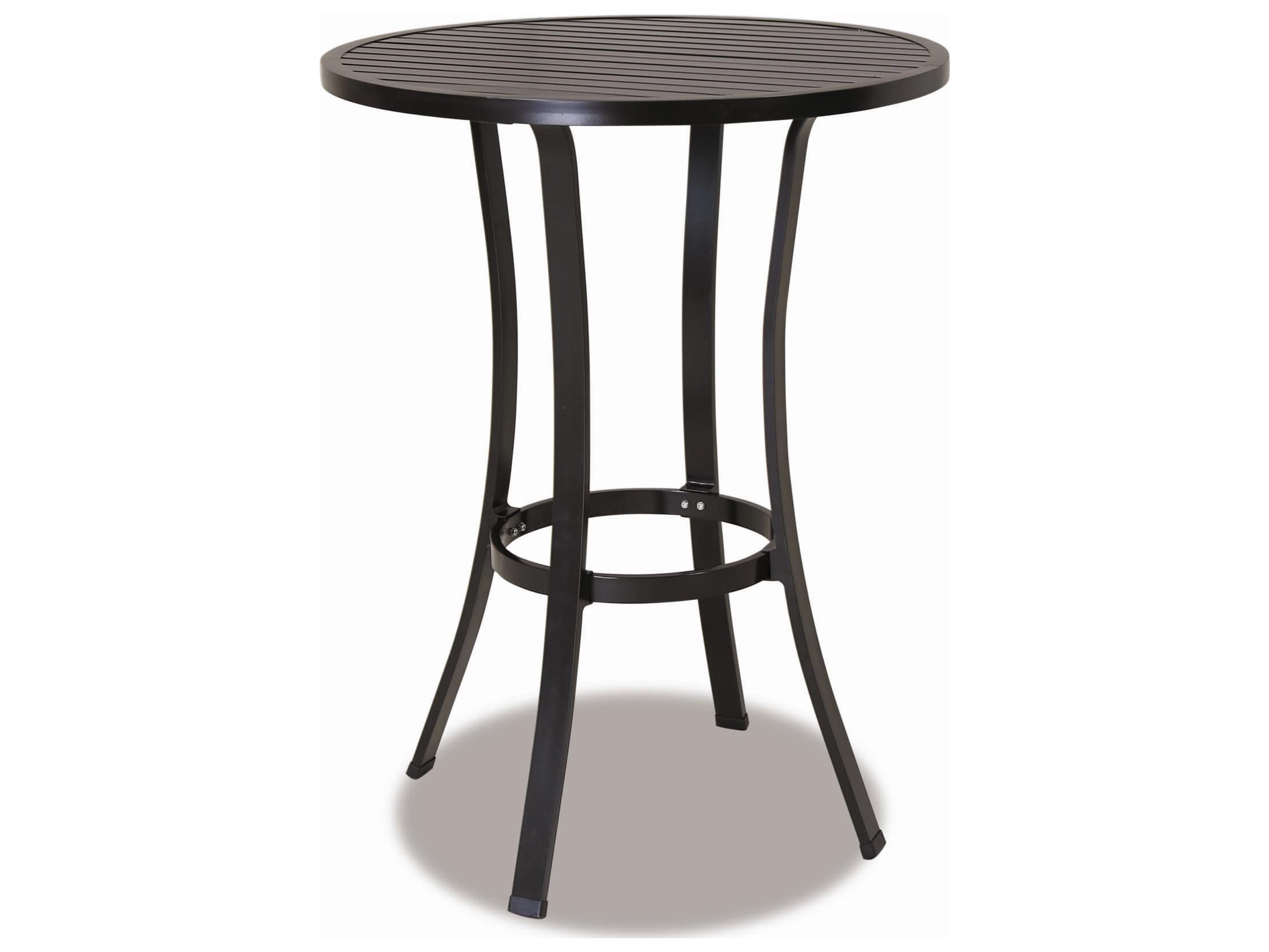 sunset west quick ship la jolla aluminum 32 round pub table 401 pt. Black Bedroom Furniture Sets. Home Design Ideas