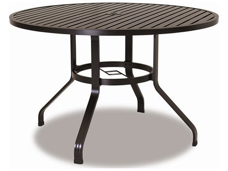 Sunset West Quick Ship La Jolla Aluminum 48 Round Dining Table
