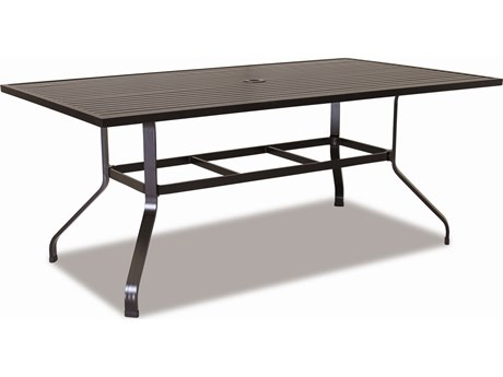 Sunset West Quick Ship La Jolla Aluminum 72 x 42 Rectangular Dining Table