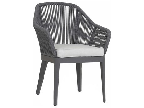 Sunset West Milano Charcoal Wicker Cushion Dining Chair
