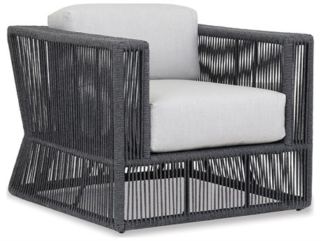 Sunset West Milano Woven Acrylic Rope Lounge Chair in Echo Ash