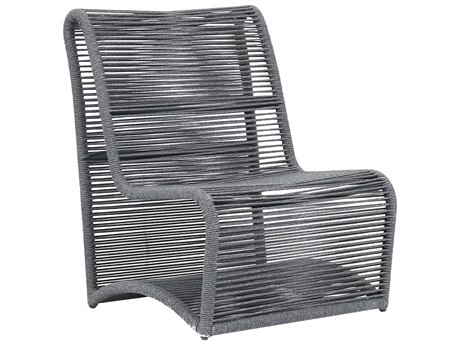 Sunset West Milano Woven Acrylic Rope Armless Lounge Chair SW410221