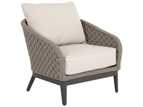 Sunset West Marbella Quick Ship Wicker Lounge Chair in Echo Ash