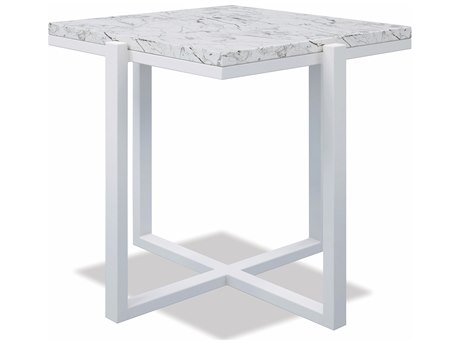Sunset West Honed Granite Quick Ship Aluminum 22''Wide Square End Table