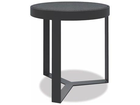 Sunset West Honed Granite - Quick Ship Aluminum Round End Table