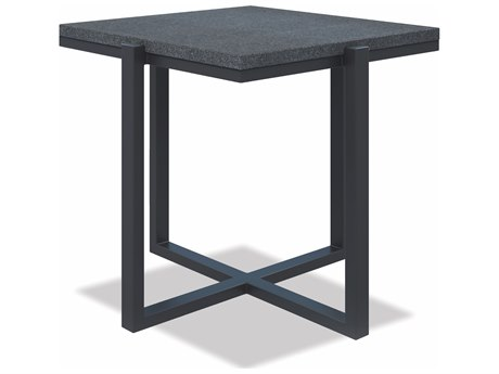 Sunset West Honed Granite - Quick Ship 22'' Wide Aluminum Square Coffee Table