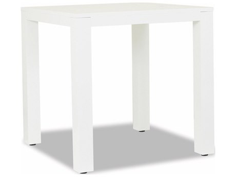 Sunset West Newport Frosted White Aluminum 40''Wide Square Counter Table
