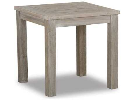 Sunset West Quick Ship Manhattan Teak 22 Square End Table