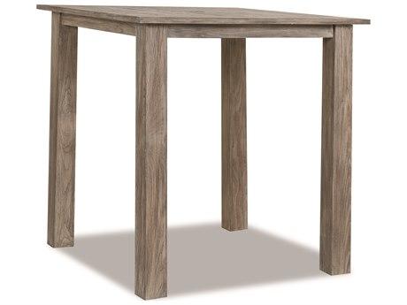 Sunset West Teak Driftwood 40'' Wide Square Bar Table