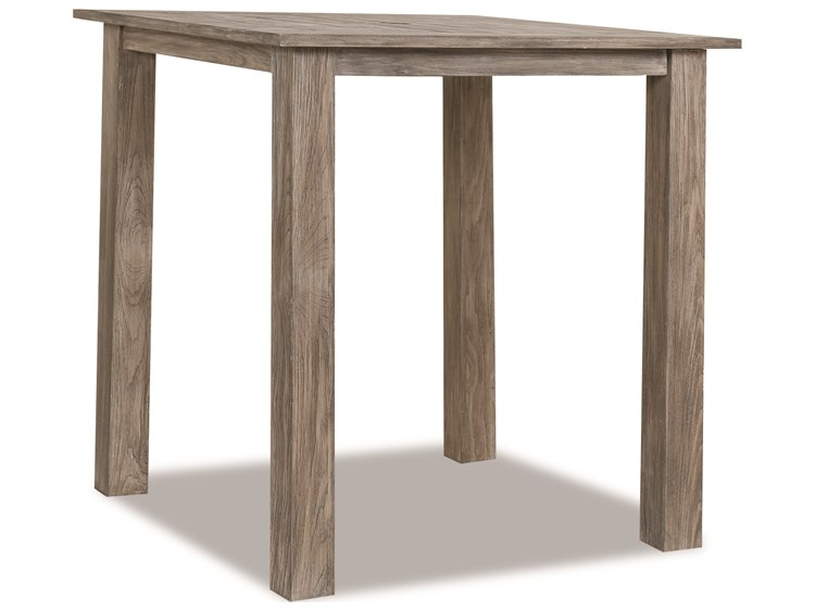 Sunset West Teak Driftwood 40'' Wide Square Bar Table