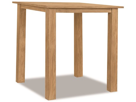 Sunset West Teak Rustic Natural 40'' Wide Square Bar Table