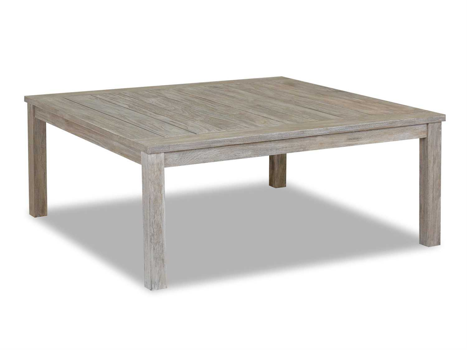 Sunset West Quick Ship Manhattan Teak 48 Square Coffee Table