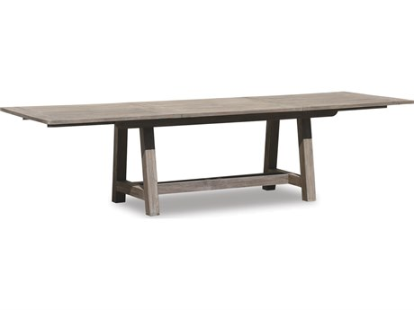 Sunset West Quick Ship Manhattan Teak 118-158 x 39 Rectangular Extending Dining Table