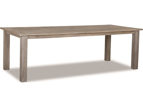 Sunset West Quick Ship Manhattan Teak 72 x 39 Rectangular Dining Table