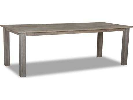 Sunset West Quick Ship Manhattan Teak 91 Rectangular Dining Table