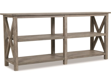 Sunset West Teak Driftwood 72''W x 18.5''D Rectangular Console Table