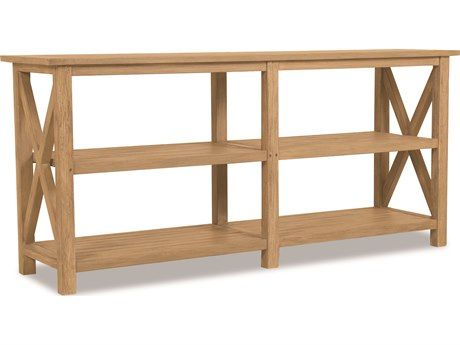 Sunset West Teak Rustic Natural 72''W x 18.5''D Rectangular Console Table