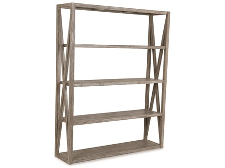 Sunset West Teak Driftwood 60''W x 16''D Storage Rack