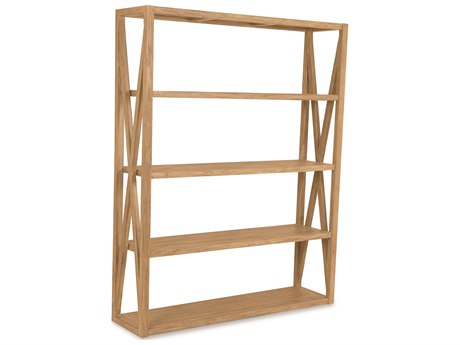 Sunset West Teak Rustic Natural 60''W x 16''D Storage Rack