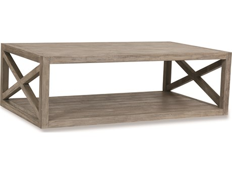 Sunset West Teak Driftwood 47''W x 24''D Rectangular Coffee Table
