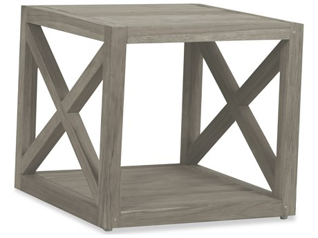Sunset West Teak Driftwood 22'' Wide Square End Table