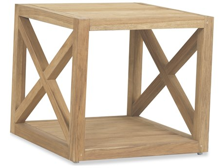 Sunset West Teak Rustic Natural 22'' Wide Square End Table