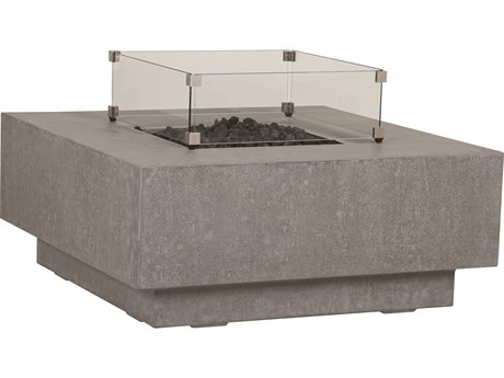 Sunset West Gravelstone 42'' Wide Square Fire Pit Table