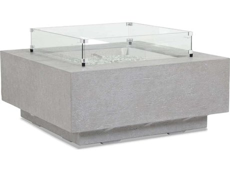 Sunset West Gravelstone Quick Ship Fire Pit Table with Glass Surround