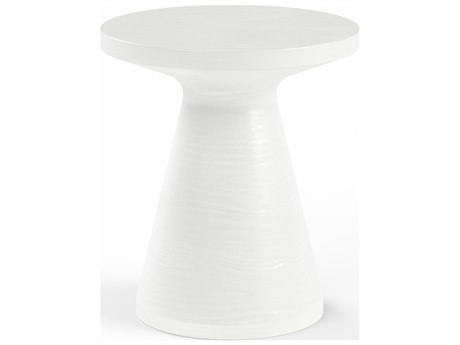 Sunset West GRC Light Grey 17''Wide Round End Table