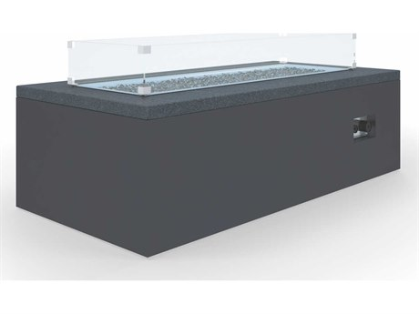 Sunset West Black Granite Quick Ship Aluminum 42''Wide Square Fire Pit Table