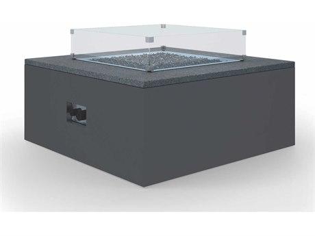 Sunset West Black Granite Quick Ship Aluminum 60''W x 30''D Rectangular Fire Pit Table