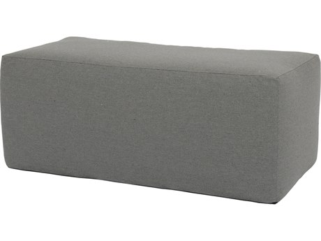 Sunset West Pouf Quick Ship 48''W x 24''D Rectangular Coffee Table Ottoman in Heritage Granite