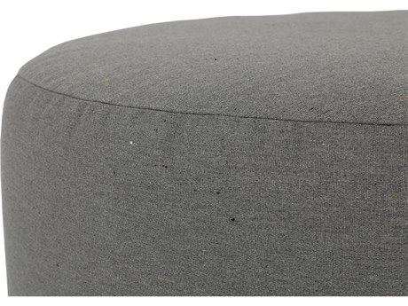 Sunset West Pouf Quick Ship 36''Wide Round Coffee Table Ottoman in Heritage Granite