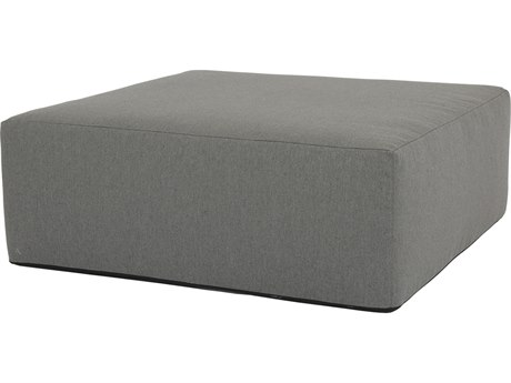 Sunset West Pouf Quick Ship 48''Wide Square Coffee Table Ottoman in Heritage Granite