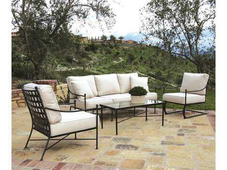 Sunset West Quick Ship Provence Wrought Iron Lounge Set