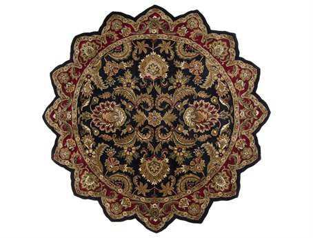 Surya Ancient Treasures 8' Star Black Area Rug