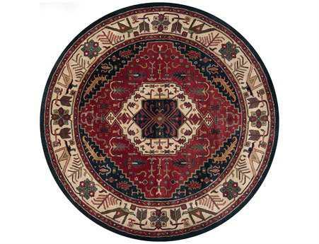 Surya Ancient Treasures 8' Round Red Area Rug