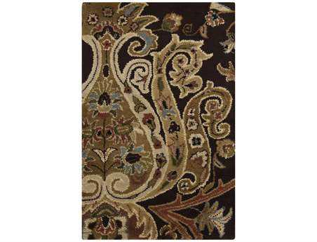 Surya Ancient Treasures Rectangular Brown Area Rug