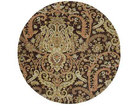 Surya Ancient Treasures 8' Round Brown Area Rug