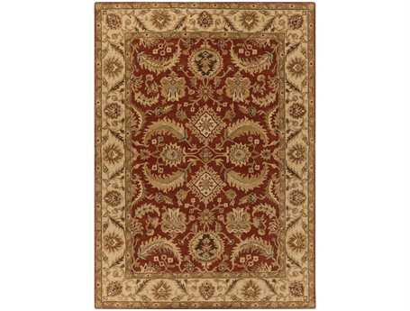 Surya Ancient Treasures Rectangular Red Area Rug