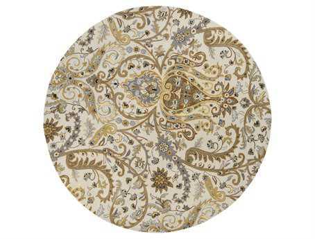 Surya Ancient Treasures 8' Round Beige Area Rug