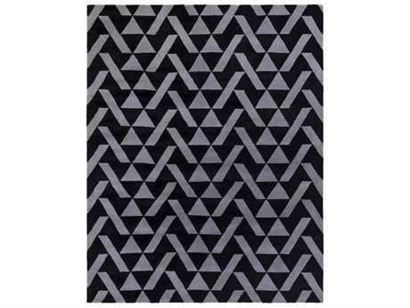 Surya Anagram Rectangular Black & Charcoal Area Rug