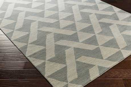 Surya Anagram Rectangular Medium Gray & Light Gray Area Rug