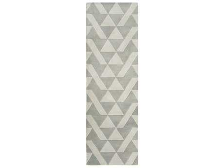 Surya Anagram 2'6'' x 8' Rectangular Medium Gray & Light Gray Runner Rug
