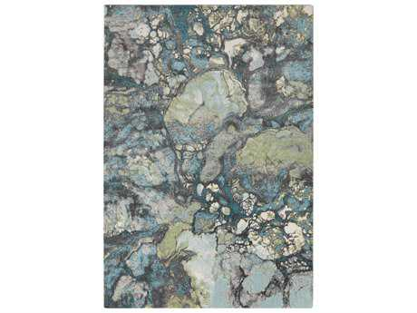 Surya Aberdine Rectangular Teal Area Rug