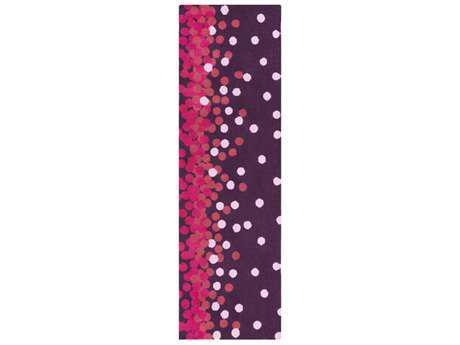 Surya Abigail 2'6'' x 8' Rectangular Dark Purple, Bright Pink & Pale Pink Runner Rug