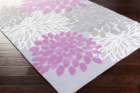 Surya Abigail Rectangular Bright Purple, Lavender & Medium Gray Area Rug